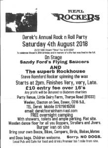 Real Rockers - Derek's Rock & Roll Party @ Little Dairy Farm | Weeley | England | United Kingdom
